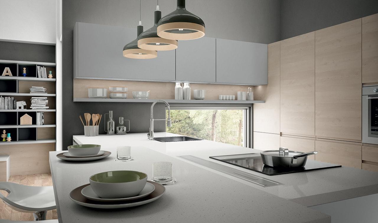 Arredo3 cucine modello wega - Cucine grigio perla ...